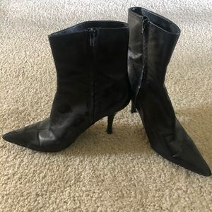 Nine West leather boots. Size 10.